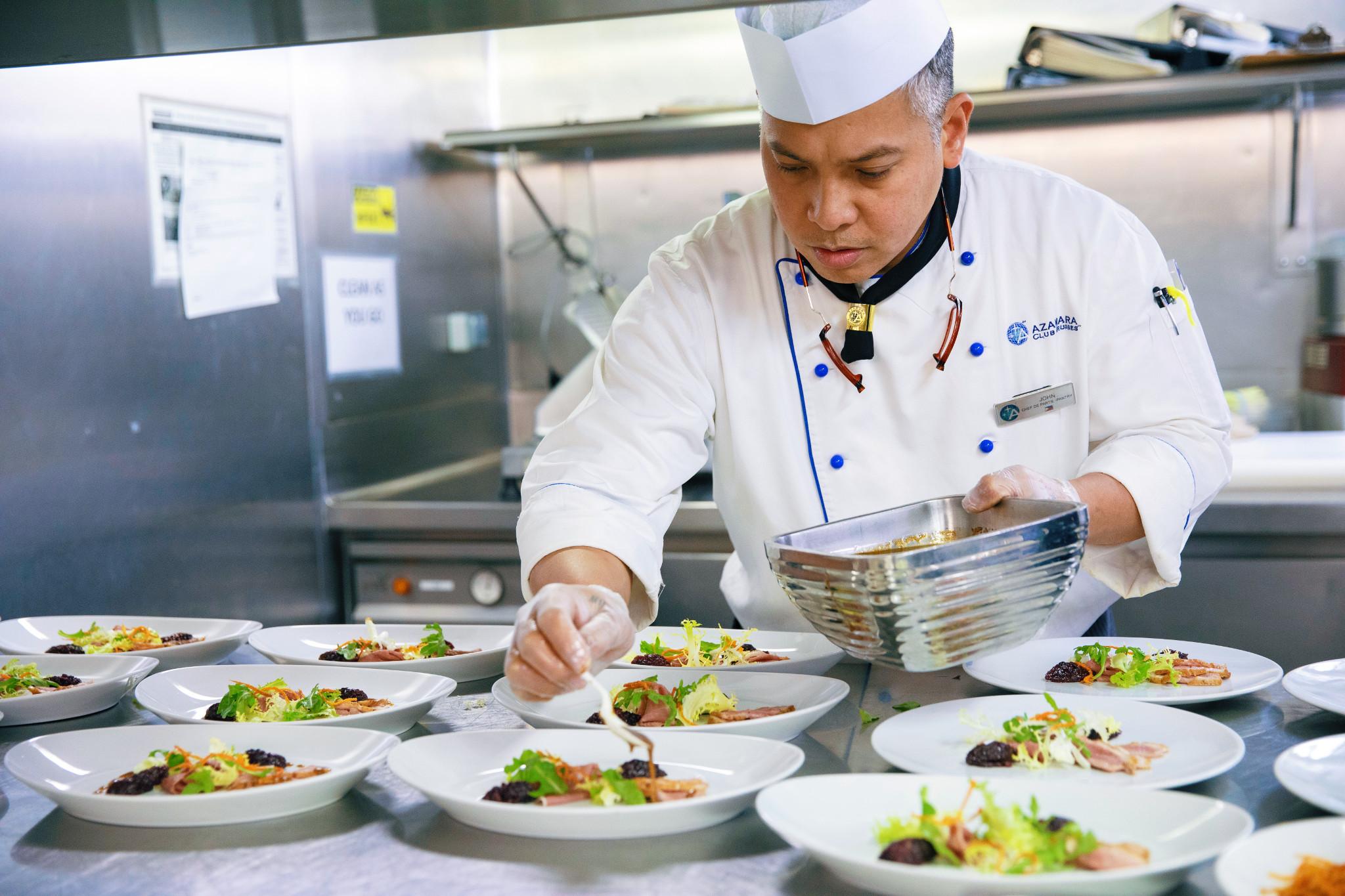 Azamara cruises gourmet chef.