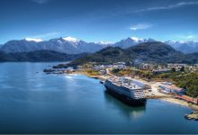 Azamara Cruises ship in Chile