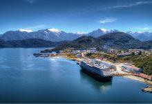 Azamara Cruises ship in Chile