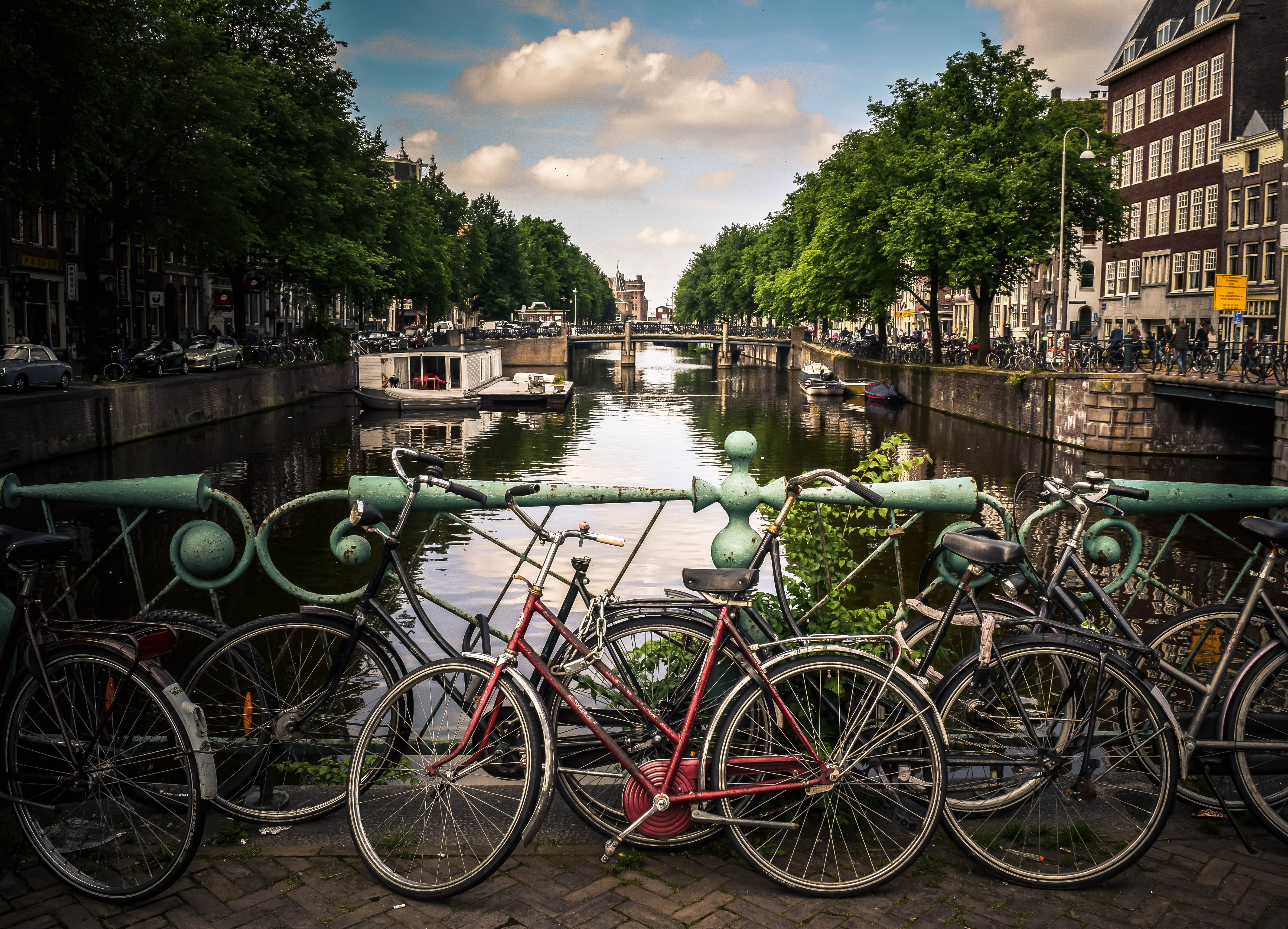 River cruises offer bike tours.