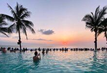 Bali is beautiful at sunset.