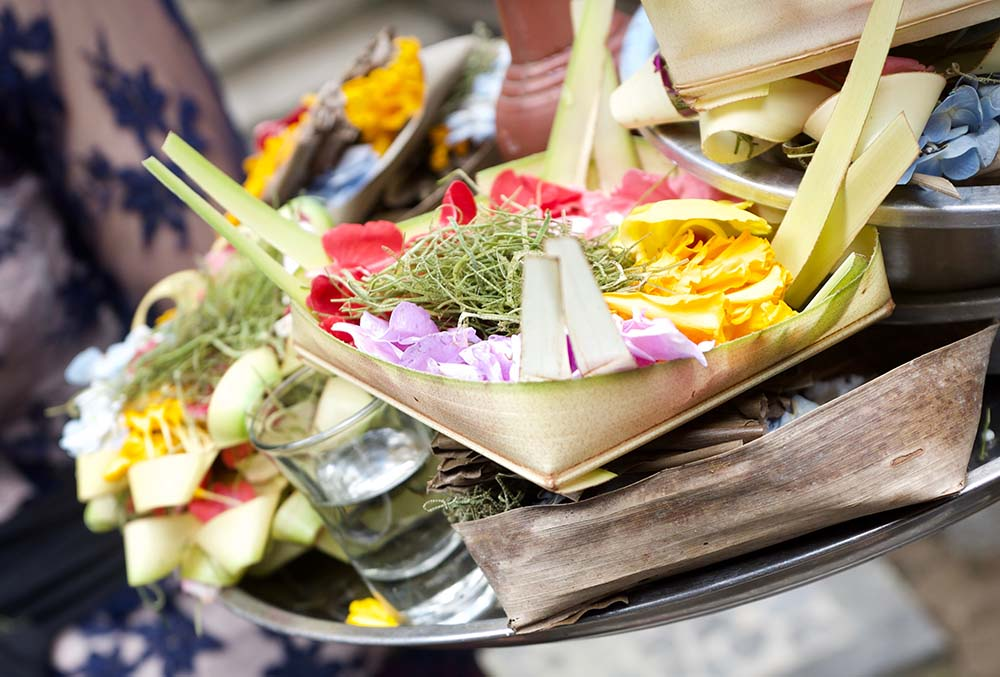 Food served at Bali wellness center.