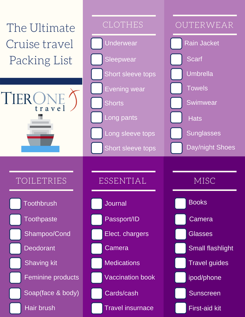 Cruise Travel Packing List