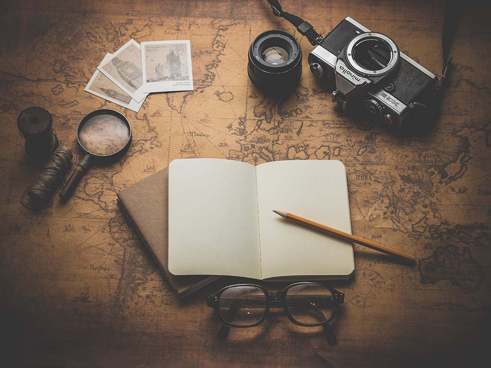 Book with a travel agency.
