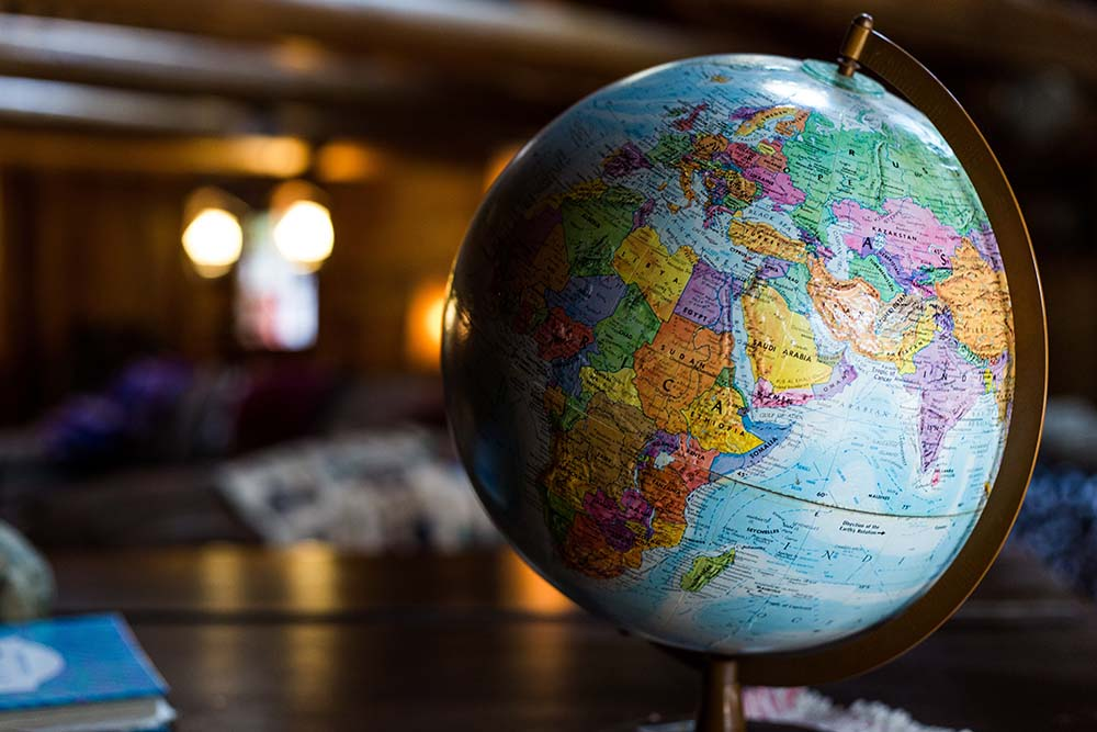 Globe of the world.
