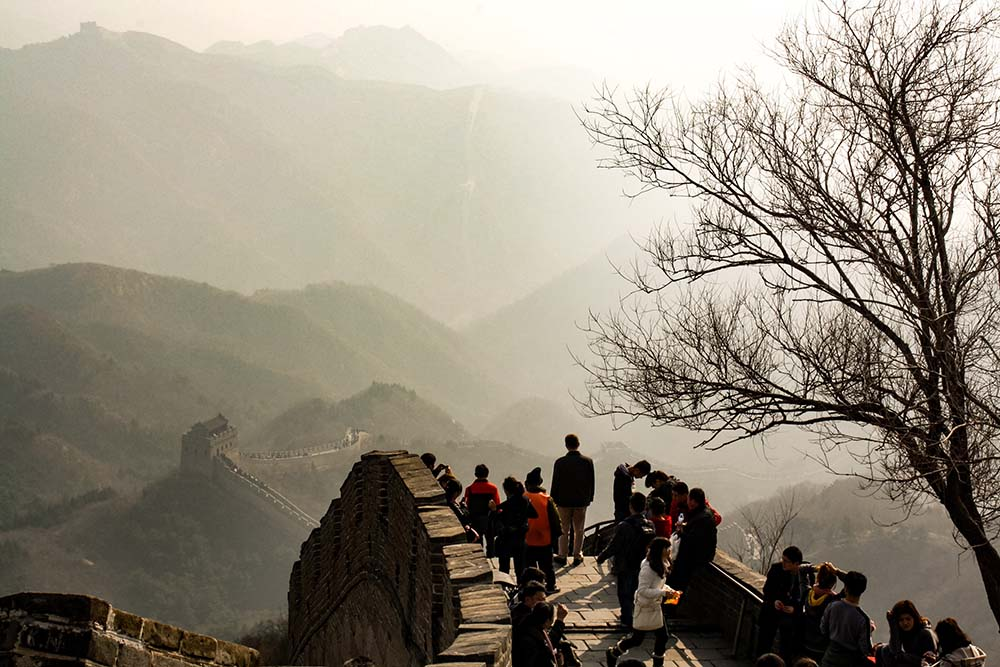 River Cruises stop at Great Wall of China.