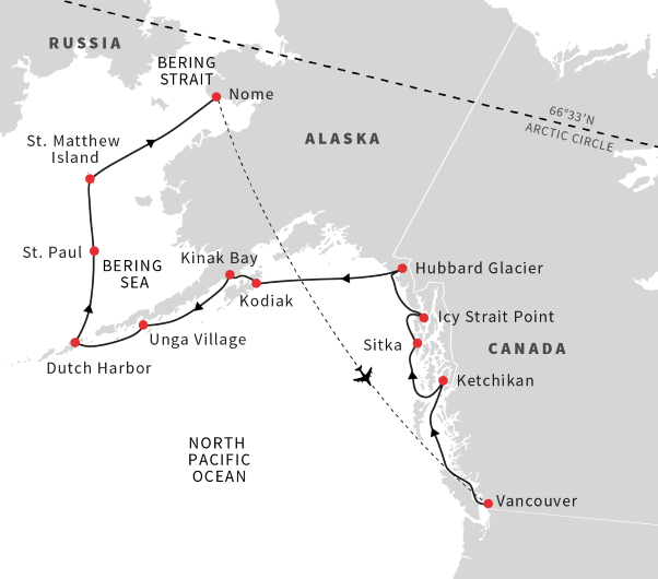 Inside Passage map.