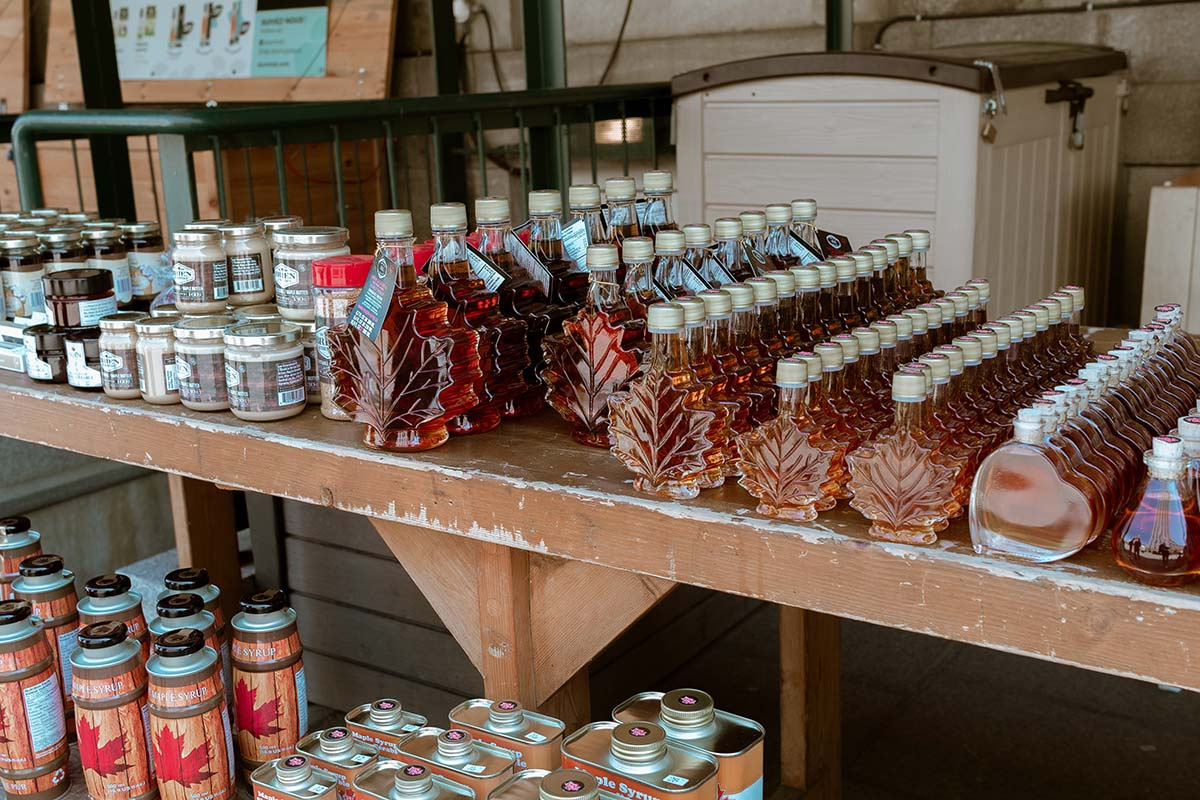 Taste the sweetness of real maple syrup.