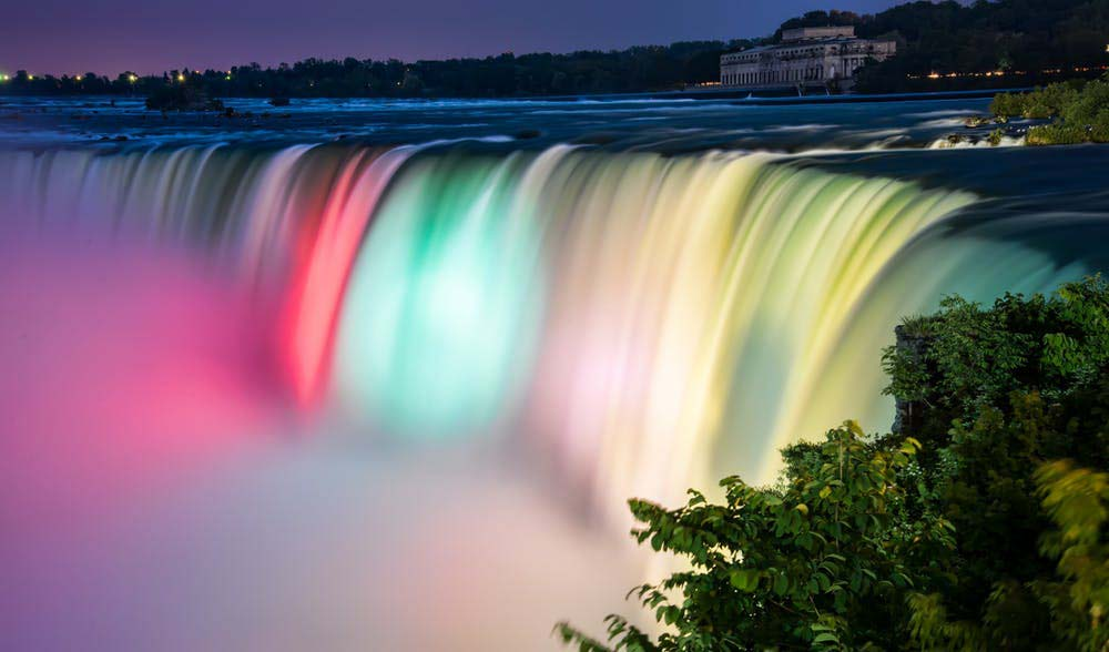 The evening beauty of Niagara Falls.