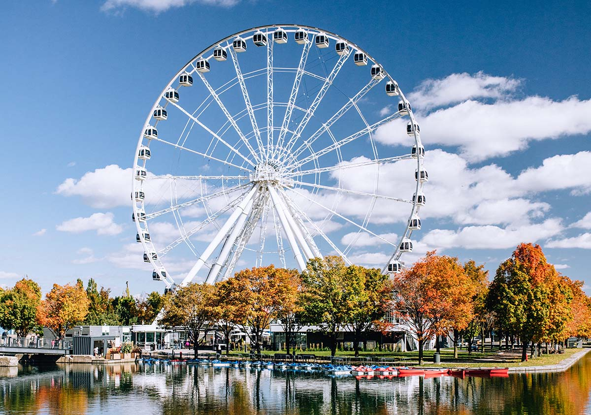 Ride the ferris wheel in Montreal.