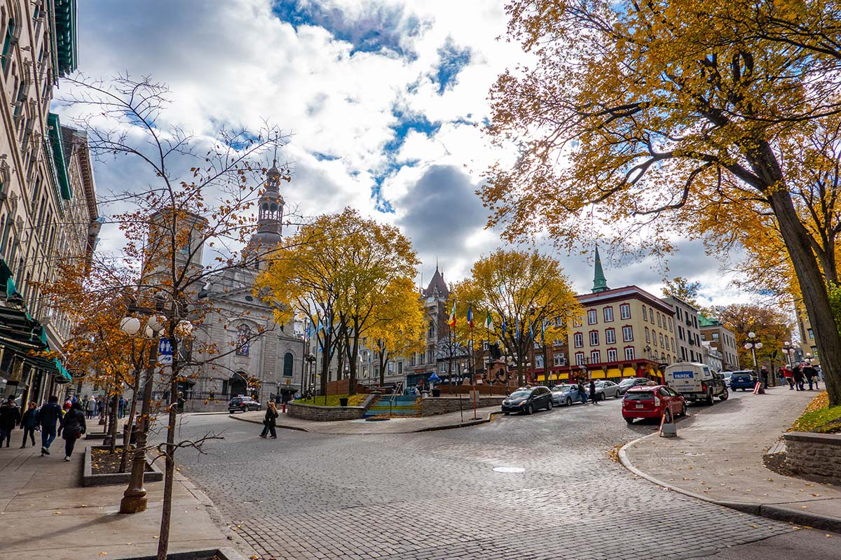 Explore downtown Quebec City.