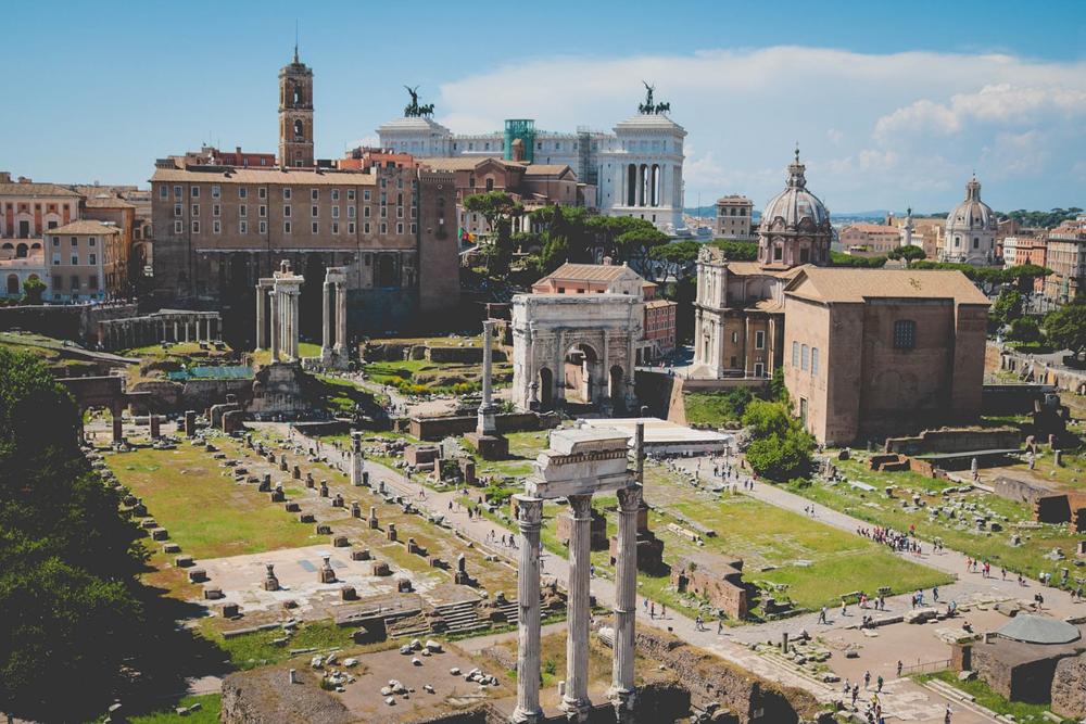 Overlooking roman ruins