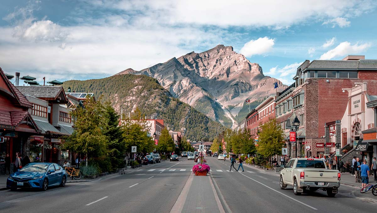 Banff is a picturesque town.