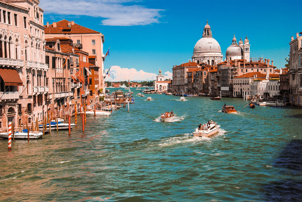 View over the Grand Canal in Venice