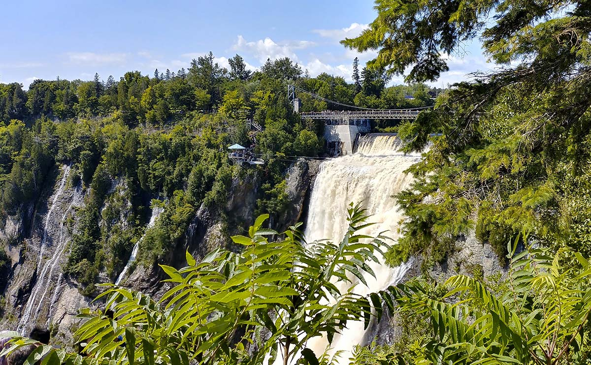 Discover Montmorency Falls.