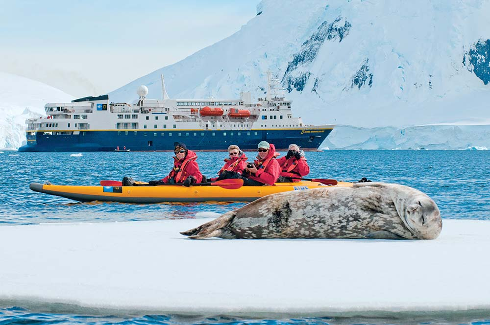 Lindblad Expeditions cruise in Antarctica.