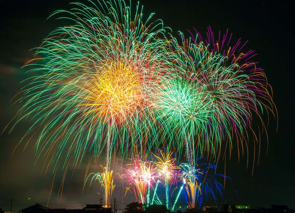 Fireworks displays on New Years Eve 2019.