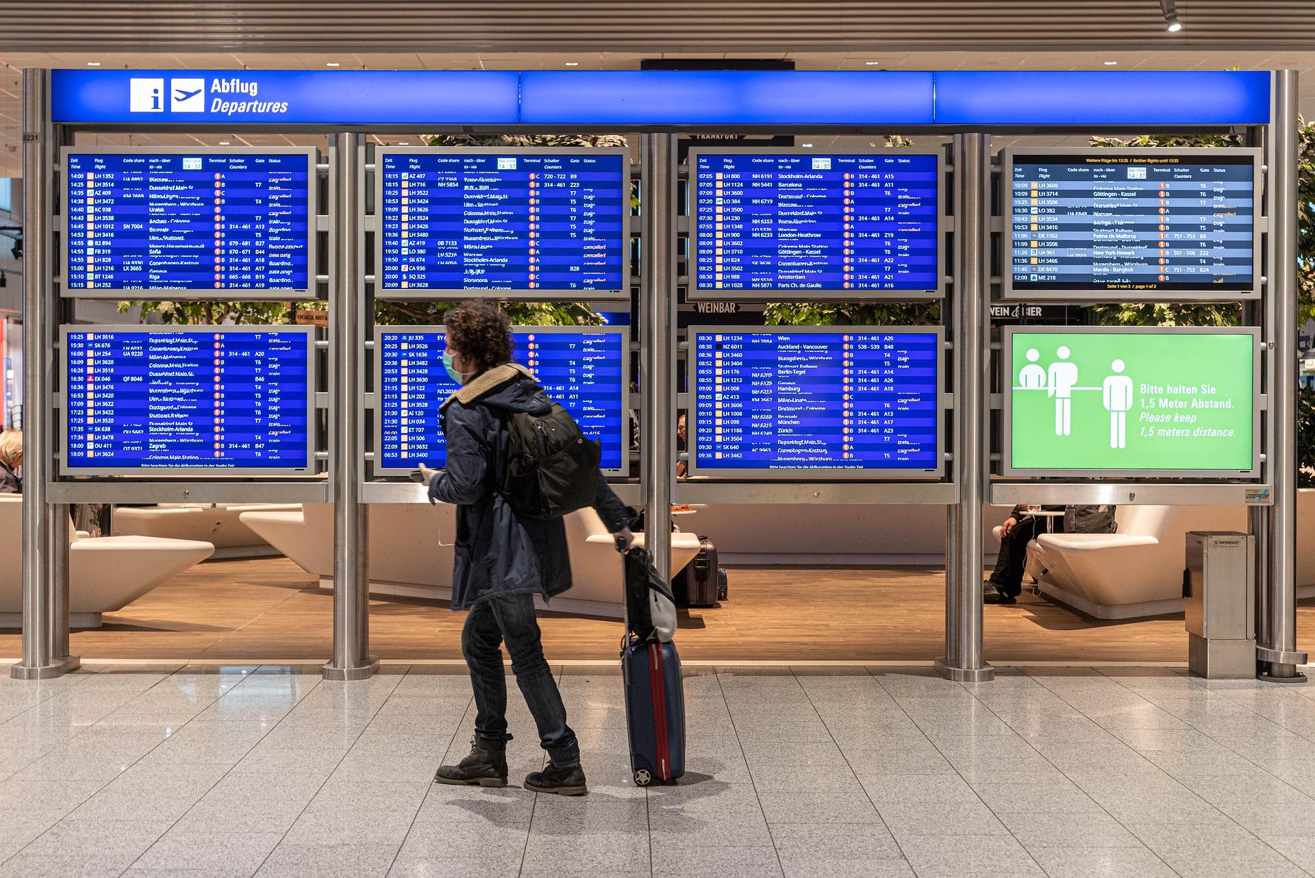 Person walking through an airport